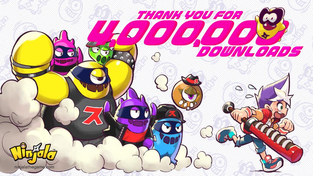 Ninjala Tops Four Million Downloads